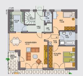 einfamilienhaus strawinsky wohnen auf einer ebene klebl hausbau. Black Bedroom Furniture Sets. Home Design Ideas